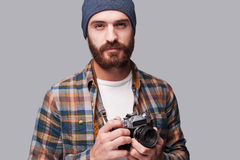 Confident photographer. Stock Photography