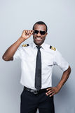 Confident pilot. Royalty Free Stock Image