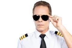 Confident pilot. Stock Photos