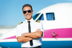 Confident pilot. Stock Photo