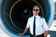 Confident pilot. Stock Photography