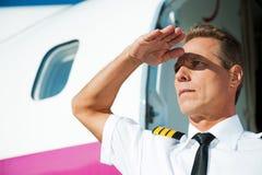 Confident pilot. Stock Images