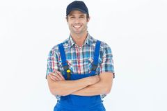 Confident plumber with arms crossed Stock Images