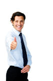 Confident pointing man royalty free stock photo