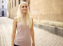 Free Confident Poised Young City Girl Stock Images - 21761514