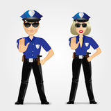 Confident policeman and policewoman Stock Photo