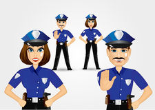 Confident policeman and policewoman Stock Photo