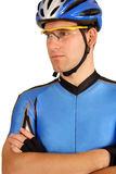 Confident pro cyclist Royalty Free Stock Photography