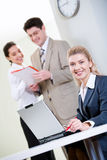 Confident receptionist Royalty Free Stock Photo