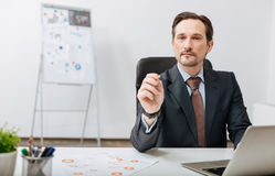 Confident recruiter performing his responsibilities in the office Royalty Free Stock Photos