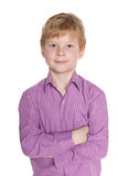 Confident red-haired boy Royalty Free Stock Photo