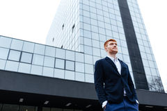 Confident redhead businessman Stock Images