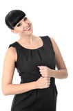 Confident Relaxed Assertive Woman Looking at Camera Smiling Stock Images