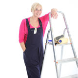 Confident relaxed female decorator Royalty Free Stock Image