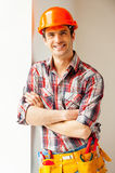 Confident repairman. Royalty Free Stock Photography
