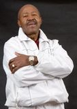 Confident retired man. Sporty african american man of retirement age Royalty Free Stock Photo