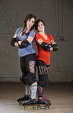 Confident Roller Derby Skaters Stock Images