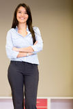 Confident saleswoman Stock Image