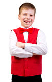 Confident school boy Stock Photos