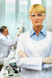 Confident scientist Royalty Free Stock Images