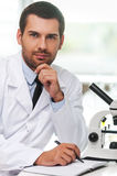 Confident scientist. Stock Photo