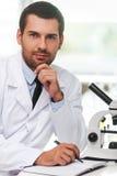 Confident scientist. Stock Photo