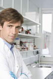 Confident Scientist In Laboratory Royalty Free Stock Photos