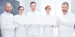 Confident scientists in lab Royalty Free Stock Images