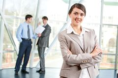 Confident secretary Stock Images