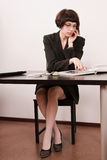 Confident secretary in a office Royalty Free Stock Photo