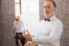Confident senior man performing in the dance studio Royalty Free Stock Photo