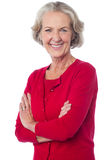 Confident senior smiling woman posing Royalty Free Stock Image