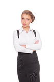 Confident and serious businesswoman Royalty Free Stock Image