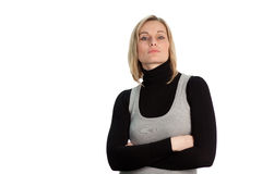 Confident Serious Businesswoman Stock Photography