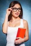 Confident and sexy teacher. Stock Images