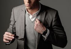 Confident sharp dressed man Stock Image