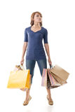 Confident shopping woman Royalty Free Stock Images