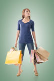 Confident shopping woman Royalty Free Stock Photo