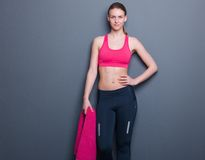 Confident slim athletic woman Stock Photography
