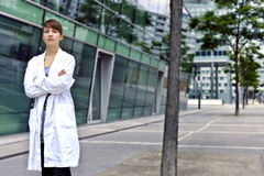 Confident and smart scientist or doctor Royalty Free Stock Photos