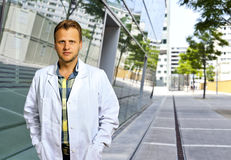 Confident and smart scientist or doctor Royalty Free Stock Photography