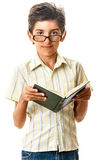 Confident smart teen with book Stock Image