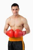 Confident smiling boxer Royalty Free Stock Photos