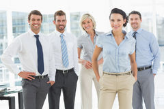 Confident smiling business team in office Stock Photos