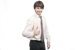 Confident smiling businessman Stock Image