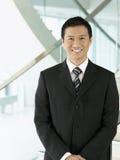 Confident Smiling Businessman Stock Photo