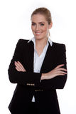 Confident Smiling Businesswoman Arms Crossed Stock Photography
