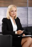 Confident smiling businesswoman Stock Photos