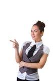 Confident Smiling Businesswoman On A White Royalty Free Stock Photos