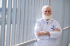 Confident smiling doctor royalty free stock images